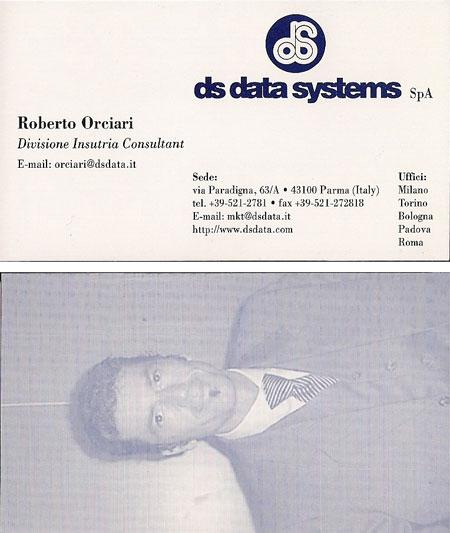 Roberto Orciari - Biglietto da visita - ds data systems SpA
